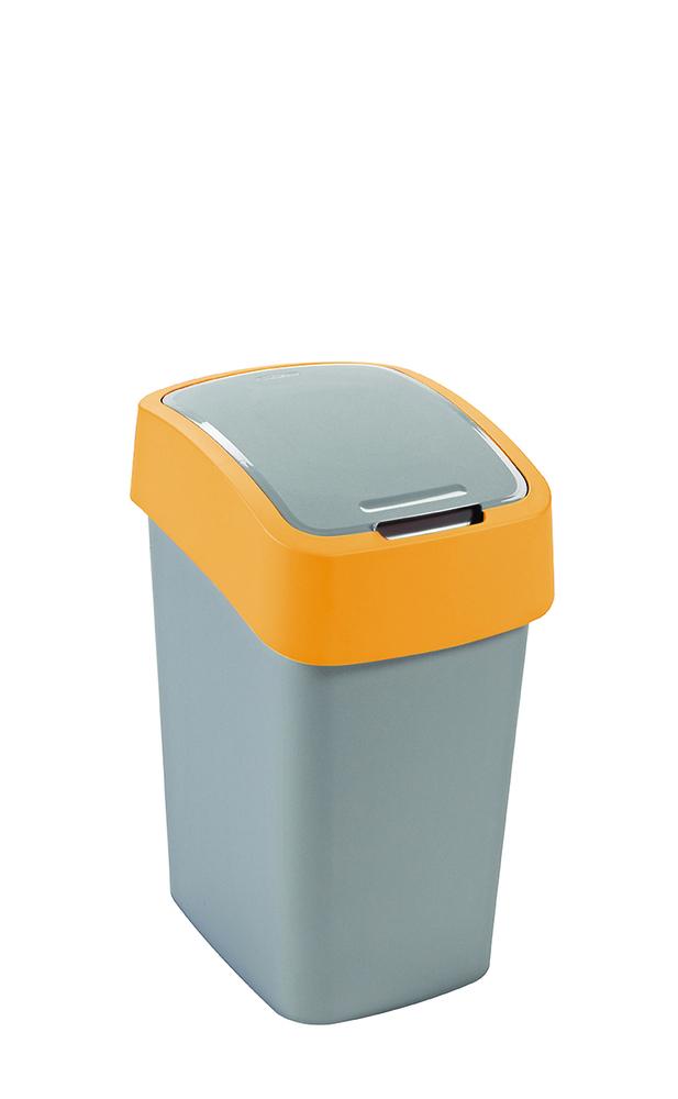 Odpadkový koš Flipbin 50l stříbrná/žlutá